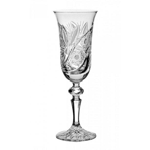 Liliom * Ólomkristály Pezsgős pohár 150 ml (L11607)